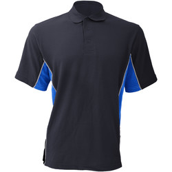 textil Herre Polo-t-shirts m. korte ærmer Gamegear KK475 Navy/Light Blue/White