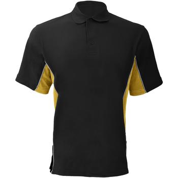textil Herre Polo-t-shirts m. korte ærmer Gamegear KK475 Black/Sun Yellow/White
