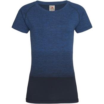 textil Dame T-shirts m. korte ærmer Stedman  Blue Transition