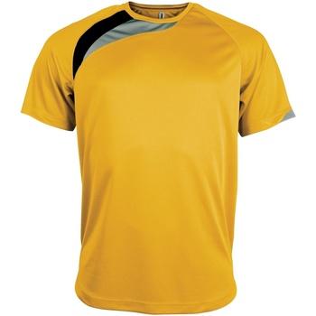 textil Herre T-shirts m. korte ærmer Kariban Proact PA436 Yellow/ Black/ Storm Grey