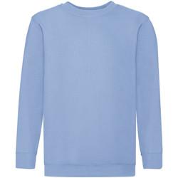 textil Børn Sweatshirts Fruit Of The Loom 62041 Sky Blue