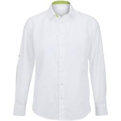 textil Herre Skjorter m. lange ærmer Alexandra Hospitality White/ Lime