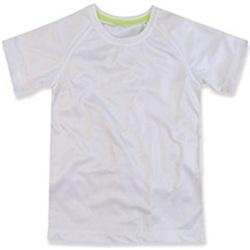 textil Børn T-shirts m. korte ærmer Stedman  White