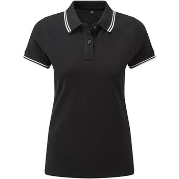 textil Dame Polo-t-shirts m. korte ærmer Asquith & Fox AQ021 Black/White