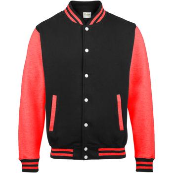 textil Herre Jakker Awdis JH043 Jet Black/ Fire Red