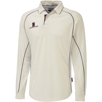 textil Herre Polo-t-shirts m. lange ærmer Surridge  White/Maroon trim