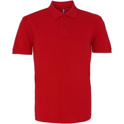 textil Herre Polo-t-shirts m. korte ærmer Asquith & Fox AQ010 Cardinal Red