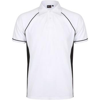textil Herre Polo-t-shirts m. korte ærmer Finden & Hales Piped White/Black/Black