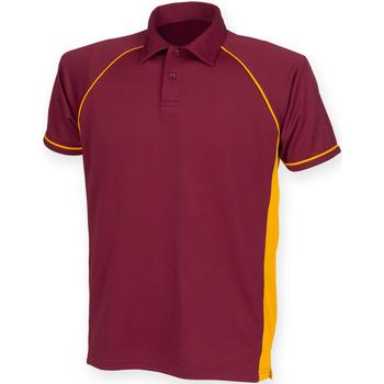 textil Herre Polo-t-shirts m. korte ærmer Finden & Hales Piped Maroon/ Amber/ Amber