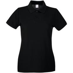 textil Dame Polo-t-shirts m. korte ærmer Universal Textiles 63030 Jet Black