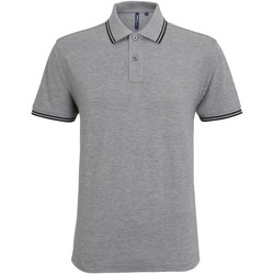 textil Herre Polo-t-shirts m. korte ærmer Asquith & Fox AQ011 Heather Grey/Black