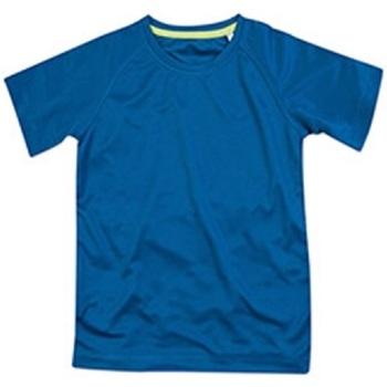 textil Børn T-shirts m. korte ærmer Stedman  King Blue