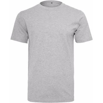 textil Herre T-shirts m. korte ærmer Build Your Brand Round Neck Heather Grey