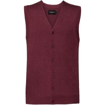 textil Herre Veste / Cardigans Russell J719M Cranberry Marl
