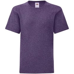 textil Børn T-shirts m. korte ærmer Fruit Of The Loom 61023 Heather Purple