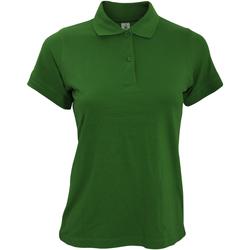 textil Dame Polo-t-shirts m. korte ærmer B And C PW455 Bottle Green