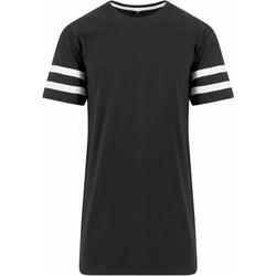 textil Herre T-shirts m. korte ærmer Build Your Brand BY032 Black/White