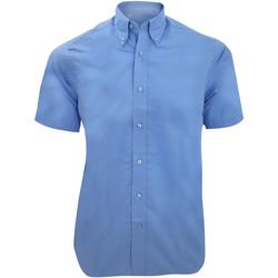 textil Herre Skjorter m. korte ærmer Kustom Kit KK385 Light Blue