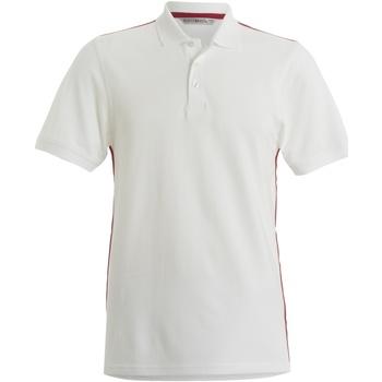 textil Herre Polo-t-shirts m. korte ærmer Kustom Kit KK603 White/ Red