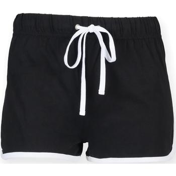 textil Dame Shorts Skinni Fit SK069 Black/ White