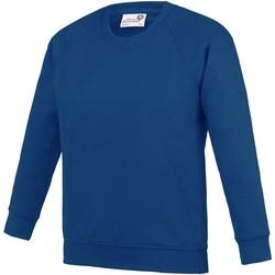 textil Børn Sweatshirts Awdis AC01J Deep Royal