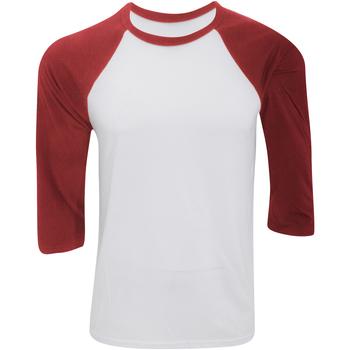 textil Herre Langærmede T-shirts Bella + Canvas CA3200 White/Red
