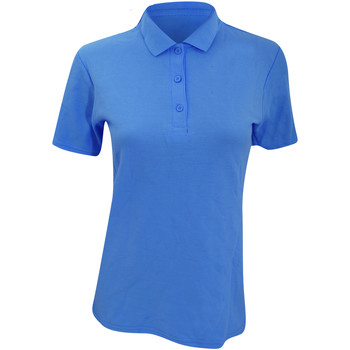 textil Dame Polo-t-shirts m. korte ærmer Anvil 6280L Pool Blue