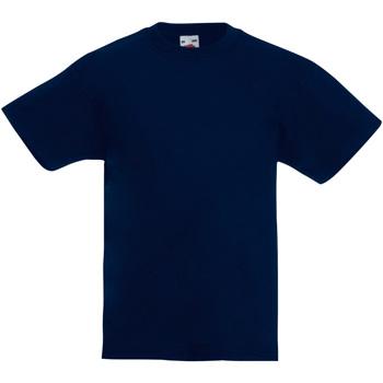 textil Børn T-shirts m. korte ærmer Fruit Of The Loom 61019 Deep Navy