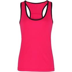 textil Dame Toppe / T-shirts uden ærmer Tridri TR023 Hot Pink / Black