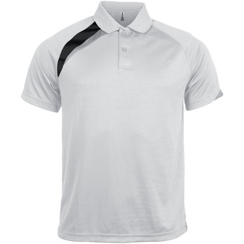 textil Herre Polo-t-shirts m. korte ærmer Kariban Proact PA457 White/ Black/ Storm Grey