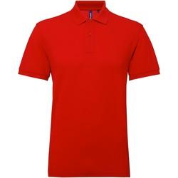 textil Herre Polo-t-shirts m. korte ærmer Asquith & Fox AQ015 Cherry Red
