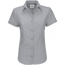 textil Dame Skjorter / Skjortebluser B And C SWO04 Silver Moon