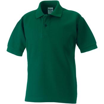 textil Dreng Polo-t-shirts m. korte ærmer Jerzees Schoolgear 539B Bottle Green
