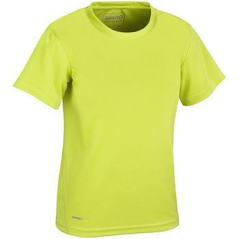 textil Dreng T-shirts m. korte ærmer Spiro S253J Lime Green