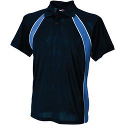 textil Herre Polo-t-shirts m. korte ærmer Finden & Hales LV350 Navy/Royal/White
