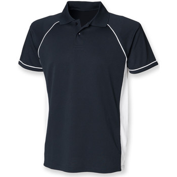 textil Herre Polo-t-shirts m. korte ærmer Finden & Hales LV310 Navy/White