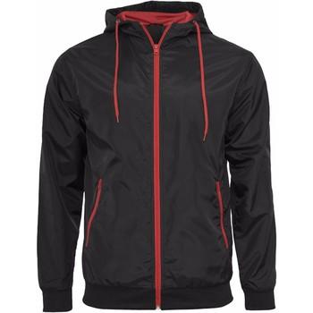textil Herre Jakker Build Your Brand Wind Runner Black/Red