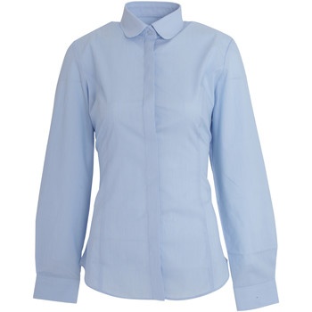textil Dame Skjorter / Skjortebluser Brook Taverner Trevi Sky Blue