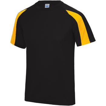 textil Herre T-shirts m. korte ærmer Just Cool JC003 Jet Black/ Gold
