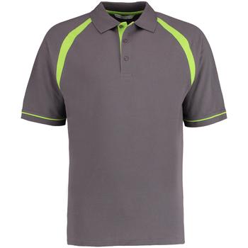 textil Herre Polo-t-shirts m. korte ærmer Kustom Kit KK615 Charcoal/ Lime