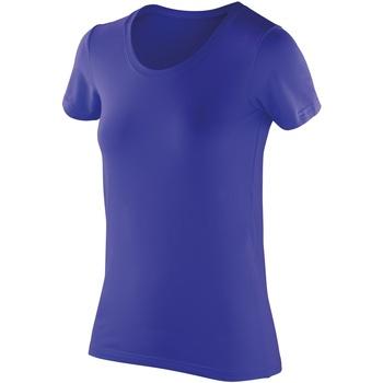 textil Dame T-shirts m. korte ærmer Spiro SR280F Sapphire