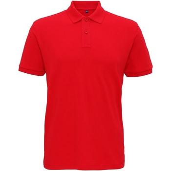 textil Herre Polo-t-shirts m. korte ærmer Asquith & Fox AQ005 Cherry Red