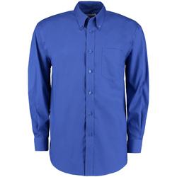 textil Herre Skjorter m. lange ærmer Kustom Kit KK105 Royal Blue
