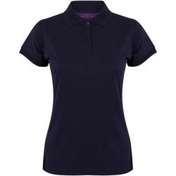 textil Dame Polo-t-shirts m. korte ærmer Henbury Coolplus Oxford Navy