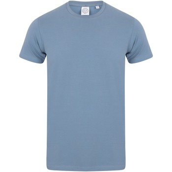 textil Herre T-shirts m. korte ærmer Skinni Fit SF121 Stone Blue