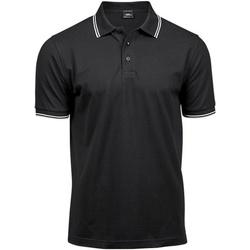 textil Herre Polo-t-shirts m. korte ærmer Tee Jays TJ1407 Black/White