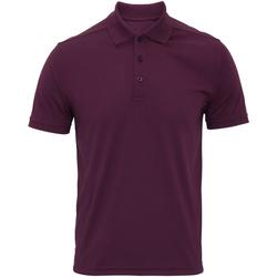 textil Herre Polo-t-shirts m. korte ærmer Premier PR615 Aubergine