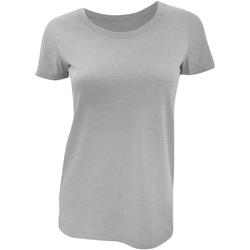 textil Dame T-shirts m. korte ærmer Bella + Canvas BE8413 Grey Triblend