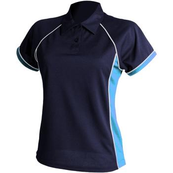 textil Dame Polo-t-shirts m. korte ærmer Finden & Hales LV371 Navy/ Sky/ White