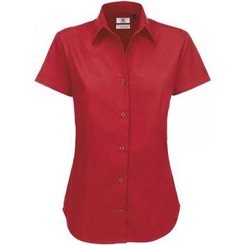 textil Dame Skjorter / Skjortebluser B And C SWT84 Deep Red